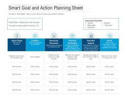 Smart Goal And Action Planning Sheet