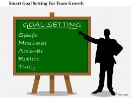 Smart Goal Setting For Team Growth Flat Powerpoint Design