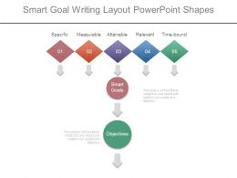 Smart Goal Writing Layout Powerpoint Shapes