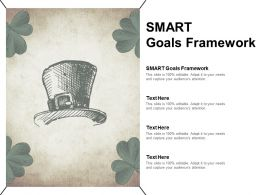 Smart Goals Framework Ppt Powerpoint Presentation File Inspiration Cpb