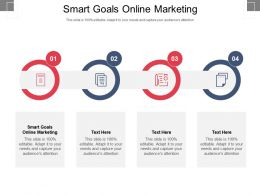 Smart Goals Online Marketing Ppt Powerpoint Presentation Portfolio Format Cpb