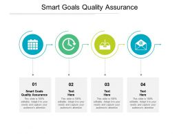Smart Goals Quality Assurance Ppt Powerpoint Presentation Gallery Aids Cpb