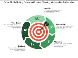 Smart Goals Setting Business Concept Showing Measurable And Attainable