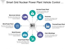 Smart Grid Nuclear Power Plant Vehicle Control Center Houses City Wing Generation