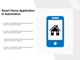 Smart Home Application In Automation