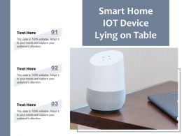 Smart Home IOT Device Lying On Table