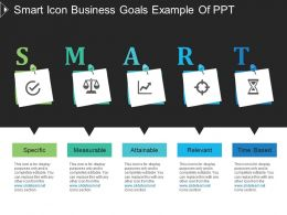 Smart Icon Business Goals Example Of Ppt