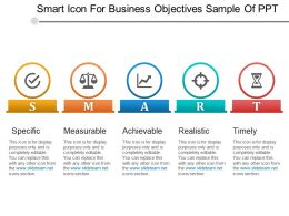 Smart Icon For Business Objectives Sample Of Ppt