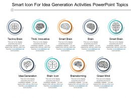Smart Icon For Idea Generation Activities Powerpoint Topics