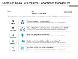 Smart Icon Goals For Employee Performance Management Ppt Background