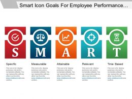 Smart Icon Goals For Employee Performance Management Ppt Design