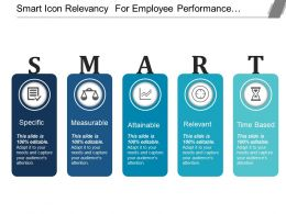 Smart Icon Relevancy For Employee Performance Management Ppt Icon