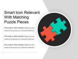 Smart Icon Relevant With Matching Puzzle Pieces
