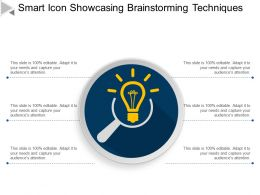 Smart Icon Showcasing Brainstorming Techniques Ppt Ideas