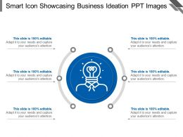 Smart Icon Showcasing Business Ideation Ppt Images