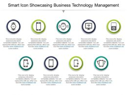 Smart Icon Showcasing Business Technology Management Ppt Infographics