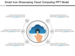 Smart Icon Showcasing Cloud Computing Ppt Model