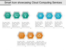 Smart Icon Showcasing Cloud Computing Services Ppt Inspiration