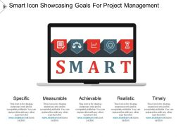 Smart Icon Showcasing Goals For Project Management Ppt Presentation