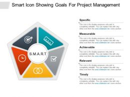 Smart Icon Showing Goals For Project Management Ppt Sample