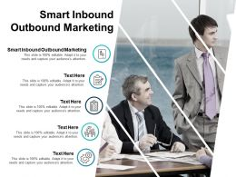 Smart Inbound Outbound Marketing Ppt Powerpoint Presentation Infographics Grid Cpb