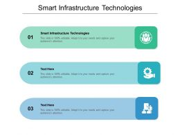 Smart Infrastructure Technologies Ppt Powerpoint Presentation Introduction Cpb