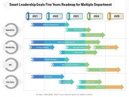 Smart Leadership Goals Five Years Roadmap For Multiple Department