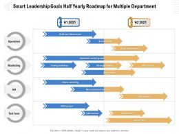 Smart Leadership Goals Half Yearly Roadmap For Multiple Department