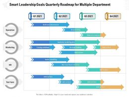 Smart Leadership Goals Quarterly Roadmap For Multiple Department