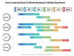 Smart Leadership Goals Six Months Roadmap For Multiple Department