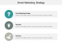 Smart Marketing Strategy Ppt Powerpoint Presentation Gallery Elements Cpb
