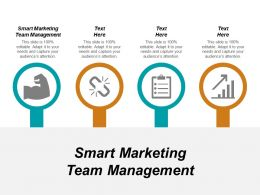 Smart Marketing Team Management Ppt Powerpoint Presentation Pictures Icons Cpb