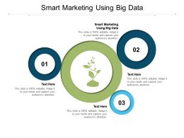 Smart Marketing Using Big Data Ppt Powerpoint Presentation Slides Graphics Pictures Cpb