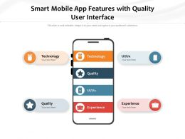 Smart Mobile App Features With Quality User Interface