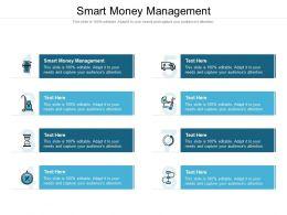 Smart Money Management Ppt Powerpoint Presentation Outline Designs Download Cpb
