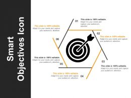 smart_objectives_icon_ppt_sample_download_Slide01