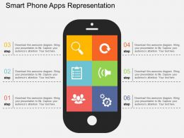 Smart Phone Apps Representation Flat Powerpoint Design