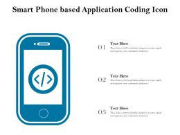 Smart Phone Based Application Coding Icon