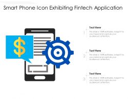 Smart Phone Icon Exhibiting Fintech Application