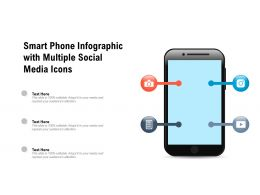 Smart Phone Infographic With Multiple Social Media Icons
