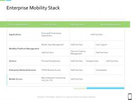 Smart Phone Strategy Enterprise Mobility Stack Ppt Infographic Template Icons