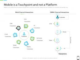 Smart Phone Strategy Mobile Is A Touchpoint And Not A Platform Ppt Infographic Template Show