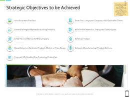 Smart Phone Strategy Strategic Objectives To Be Achieved Ppt Model Graphics