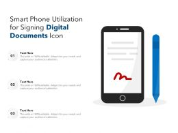 Smart Phone Utilization For Signing Digital Documents Icon