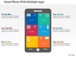 Smart Phone With Multiple Apps Flat Powerpoint Design
