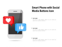 Smart Phone With Social Media Buttons Icon