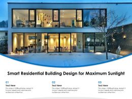 Smart Residential Building Design For Maximum Sunlight