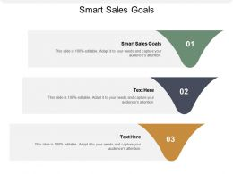 Smart Sales Goals Ppt Powerpoint Presentation Gallery Slides Cpb