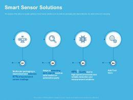 Smart Sensor Solutions Automotive Parts Ppt Powerpoint Presentation Design Templates
