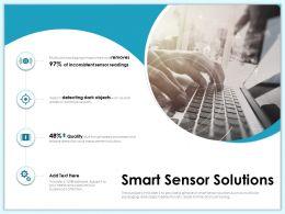 Smart Sensor Solutions Dark Objects Ppt Powerpoint Presentation Infographic Template Smartart